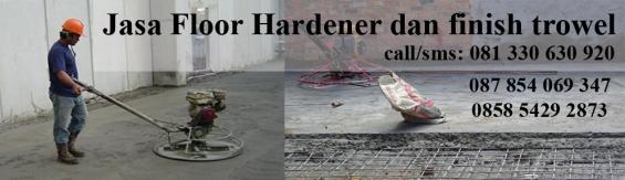 floor hardener dan finish trowel semua nomor